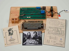 Apple-1 Computer Auctioned by Christie's